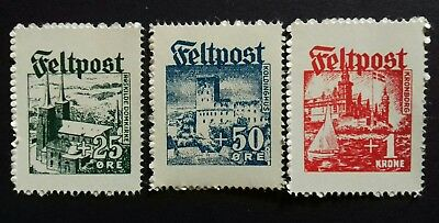 Danish Feltpost WWII German Occupation Stamps.