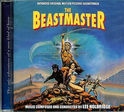 """Lee Holdridge """"THE BEASTMASTER"""" score Expanded 2CD 1200-Ltd sold out SEALED"""