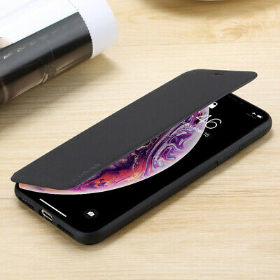 iPhone 11 Pro 8 XS Max XR Genuine Slim Shockproof Flip Wallet Leather Case Cover