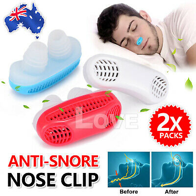 Anti Snore Nasal Dilators Apnea Sleep Aid Stop Snoring Nose Clip Air Purifier AU