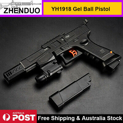Electric 1918 Gel Blaster Pistol Water Crystal Bullets Hopper Mag Toy Gun AU