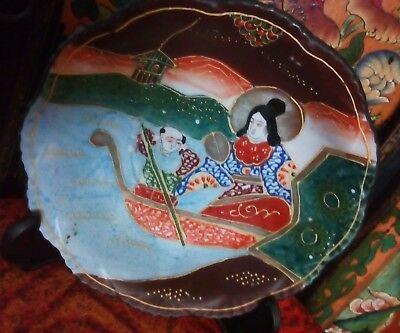 antique japanese handpainted bowl