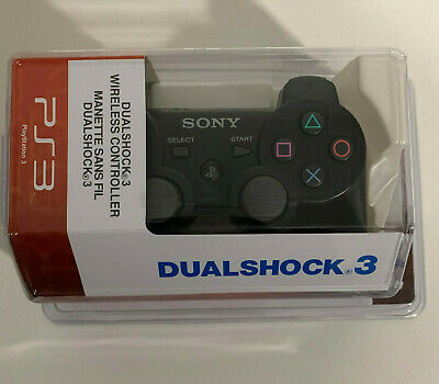 PS3 Controller for Sony Playstation 3 Black - New, Old Stock - Dual Shock 3 DS3