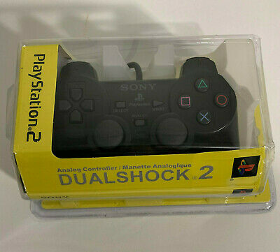 PS2 Controller for Sony Playstation 2 Black - New, Old Stock - Dual Shock 2 DS2
