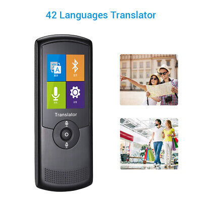 "Portable Smart Voice Translator 42 Languages 2.4"" for Learning Business Travel"