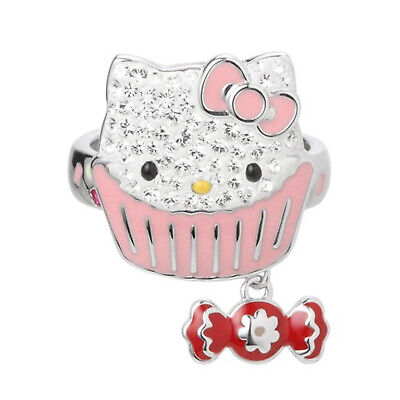 swarovski originale anello hello kitty sweet ring crystal gatto 55 1120606 bague