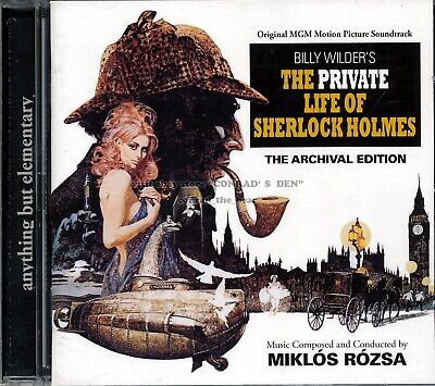 "Miklos Rozsa ""THE PRIVATE LIFE OF SHERLOCK HOLMES"" score Quartet 1000-Ltd CD oop"