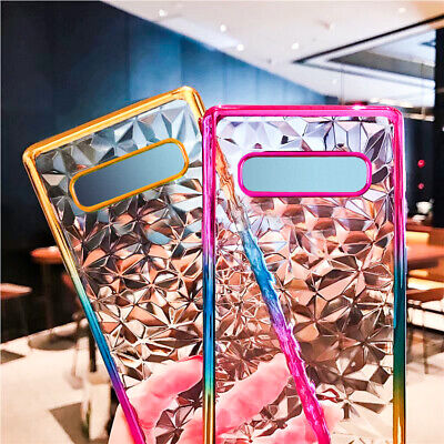 For Samsung Galaxy A30 A50 A70 S10 M20 Plating Crystal Gel Soft Clear Case Cover