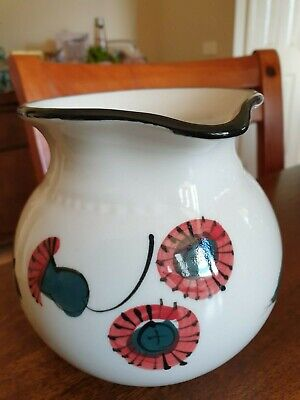 Bendigo Pottery Jug With Critters Gumnuts and Gum Leaves! :)