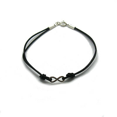 Sterling Silver Bracelet Genuine Hallmarked Solid 925 Infinity With String
