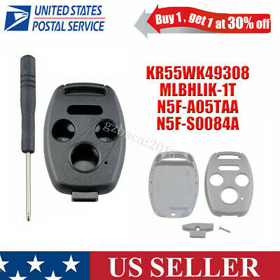 Remote Key Fob Case Shell For 2007  2008 2009 2010 2011 Honda CR-V Civic