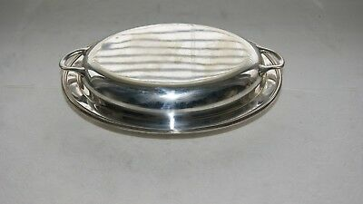 Vintage Silver Plated  E P N S  2 Piece Oval Handled Lidded Tureen Serving Dish