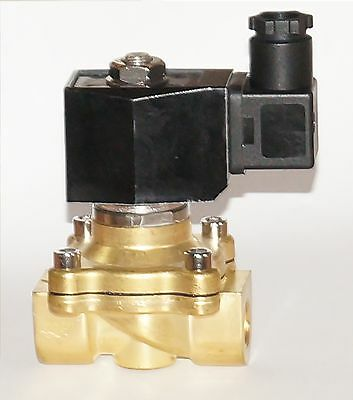 """Solenoid Valve Brass 2/2 Way 230V 3/8 """" Normally Closed, Positively Controlled"""