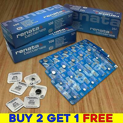 Renata Watch Batteries - BUY 2 GET 1 FREE - 371 377 379 364 CR 2032 2025 Battery