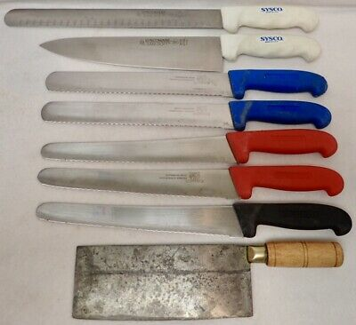 lot of professional foodservice kitchen knives & cleaver Sysco Greban Povinelli