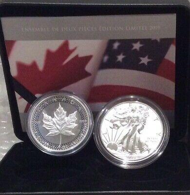 2019 Pride of Two Nations Canada Limited Edition Two-Coin Set, Eagle Maple Leaf