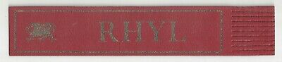 Rhyl. Red Leather English Bookmark. **
