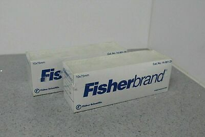 NEW Fisher Fisherbrand 14-961-25 Disposable Culture Tubes 10x75mm 200ct FREE S&H