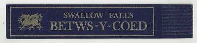 Betws-Y- Coed. Blue Leather English Bookmark. **