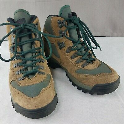 a2ac14fb866 MERRELL REI MONARCH IV Hiking Boots 9.5 Brown/Green Leather & Nylon ...