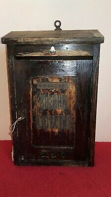 Antique Vintage Wooden Post Office Door Mail Box Military Sign