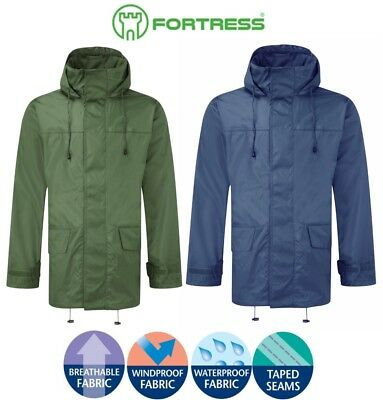 FORTRESS Mens WATERPROOF JACKET COAT Breathable Waterproof Windproof COMFORTABLE