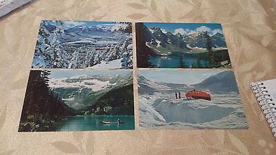 Lot of 4 Vintage Postcards Of The Canadian Rockies Unposted