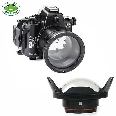 SeaFrogs 40M Underwater Camera Housing Case for Canon 5D III 5D IV w/Dome Port