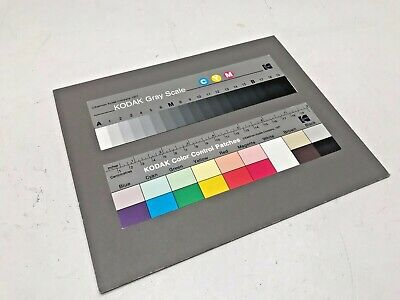 Kodak Q13 colour patches and black and white grey scale.