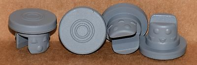 20mm Gray Butyl Serum Vial Stoppers 2 Leg Nubbed Qty. 5000