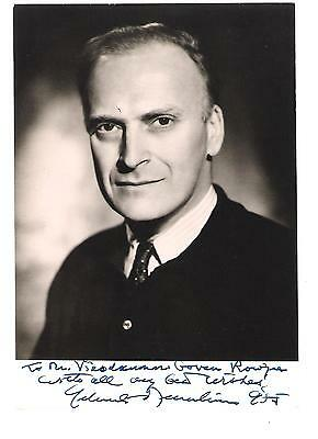 "Yehudi Menuhin. American Violinist/Conductor. B/w, 4.75""x7"", Inscribed Photo"