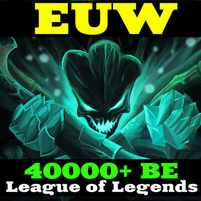 LoL EUW Account League of Legends 40000 BE  Smurf Unranked Level 30 EU West PC