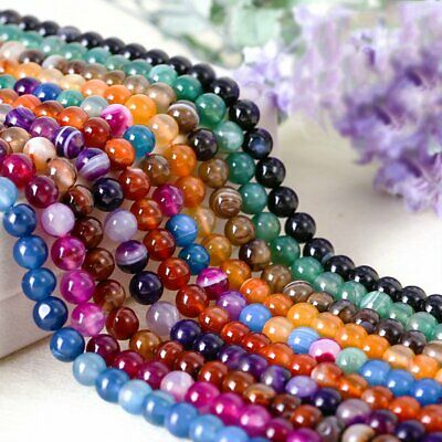New Wholesale Natural Gemstone Round Spacer Loose Beads 8MM Bracelets Necklace