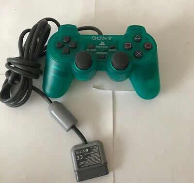 Official Sony PlayStation 1 PS1  DualShock Controller - Clear Green - FREE UK PP