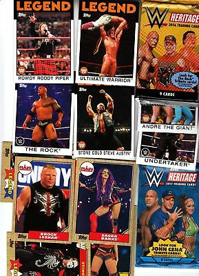 Wwe Topps Heritage Wrestling 2016 & 2017 Complete Sets W/ Inserts Sets Loaded$$