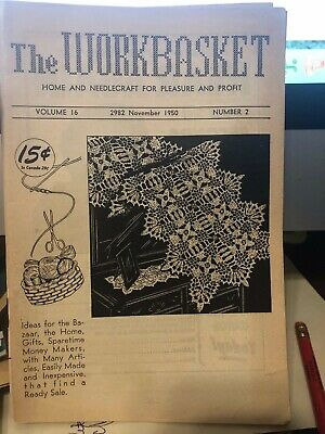 Vintage WORKBASKET magazines - 1950's and one '69 - 8 issues
