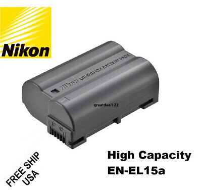 Nikon EN-EL15 EN-EL15a EN-EL15B Battery D850 D810 D750 D610 D7500 D7200 MH-25 MB
