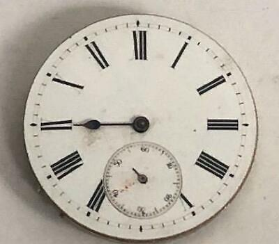 Victorian Pocket Watch Movement With Dial & Hand Pocket Watch Spares Working