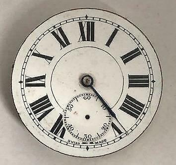 Victorian Pocket Watch Movement With Dial & Hand Pocket Watch Spares Working 2