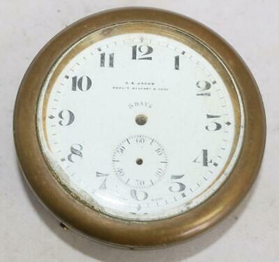 Antique English Chronometer Ships Clock Case and Dial Parts Repair Good Spares