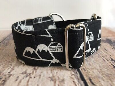 Black Mountains Greyhound Martingale, Vacation Cabin Dog Collar For Sighthounds