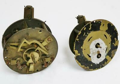2 x Antique French 8 Day Clock movements spares repairs, Timepiece & Striking