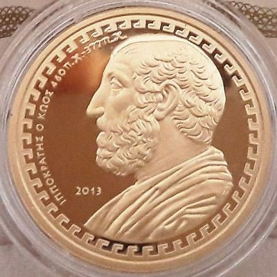 SUPER RARE 🅰 GOLD proof 🅰️ GREECE 200 Euro 2013 - Hippocrates Doctor 🅰️ GRECE