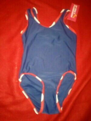 Bnwt Primark Young Dimension Girls Navy Swimsuit 2-3 Years