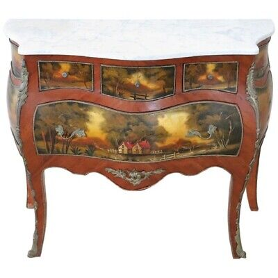 20th Century French Louis XV Style Hand Painted Chest of Drawers or Commode
