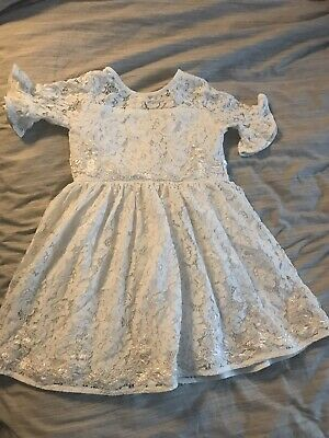 Girls Lace occasion dress Christening Flower Girl River Island 2-3 Years