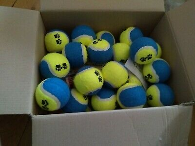 30 USED TENNIS BALLS-VERY GOOD CONDITION-Blue & Yellow-WASHED AND SANATISED