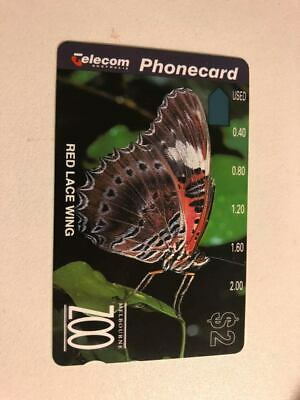 Rare Mint $2 Red Butterfly Phonecard