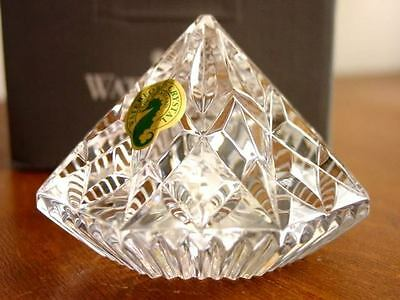Waterford Crystal DIAMOND Sculpture - Paperweight NEW! Made in IRELAND