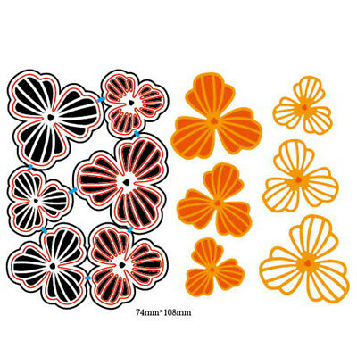 6Pcs Flowers Design Metal Cutting Dies For DIY Scrapbooking Album Paper Car FR